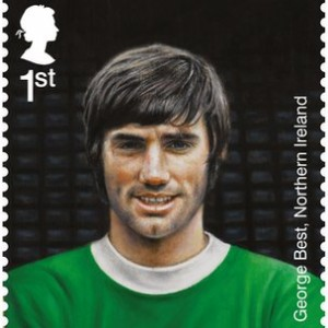 Soccer star George Best features on a new Royal Mail stamp