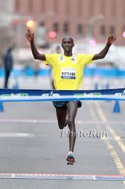 Belfast Marathon winner Joel Kipsang Kositana of Kenya