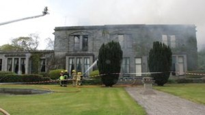 Ov er 80 firefighters tackle blaze at Co Down stately home