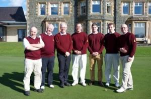 The winning Malone Golf Club Holt Shield team