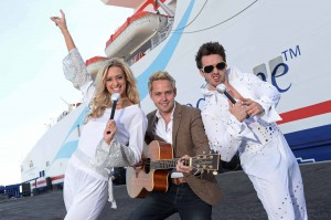 SUMMER OF CABARET: Up and coming country star Derek Ryan, Dancing Queen Sarah Moore and 'The King' lookalike Michael McCann launch Stena Line's new Cabaret Cruises on the Irish Sea