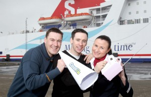 On the waves...Cool FM's Breakfast Show presenters Gareth Stewart and Connor Phillips are joined by Stena Line's Kirsteen Hainey as they celebrate the leading ferry company's extended sponsorship of the show.