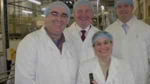 Ciaran Mulgrew, Mark Durkan MP and US Consul and deputy consul at Niche plant
