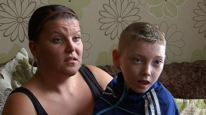 LUCKY TO BE ALIVE: Aisling Campbell and her disabled son Pearse who were rescued from a house fire