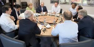 Prime Minister David Cameron hosts breakfast talks on counter-terrorism