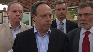 North Belfast MP Nigel Dodds lead a DUP delegation to meet police chiefs over Tour of the North incident