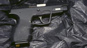 High powered handgun using in west Belfast gun attack