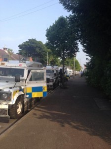 Heavy security presence in Ardoyne on Twelfth evening ahead of returning parade