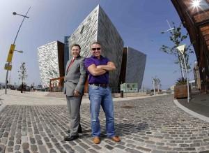 Michael Flatley and Alan Clarke of NITB at Titanic Belfast