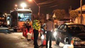 Police around the world mount weekend checkpoints to search coaches for drink