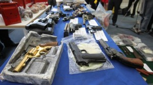 Gardaí put on display massive haul of dissident guns and explosives