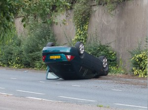The scene of an accdent in east Belfast on Wednesday evening. Pics: Tony McCrory