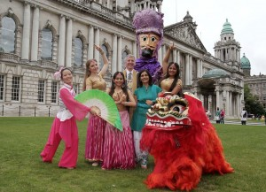 Belfast's Lord Mayor Councillor Mairtin O'Muilleor launches Mela festival