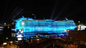 The MSC Magnifca cruise liner arrives in Belfast on Saturday bringing over 2,000 guests to the city for a day