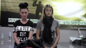 Michaela McCollum Connolly (left) and Melissa Reid arrested by Peruvian police for drug trafficking