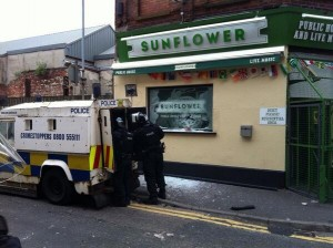 The Sunflower Bar in Belfast city centre whicih was attacked on Friday night