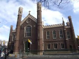 St Malachy's Church in the Markets which was attacked with paint in the early hours of Friday morning