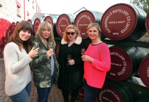 Rachel Gough and Maryse Fitzpatrick of Universal Pictures, Tanya Sweeney of the Irish Independent and Claire Keenan of the Northern Ireland Tourist Board visited the Old Bushmills Distillery (pictured) and the Giant's Causeway at the weekend. Universal Pictures is currently on location in Northern Ireland shooting a Dracula Year Zero movie and are bringing in groups of media to go behind the scenes and on set, meeting with cast and crew to in order to raise the profile of the movie when it goes on release in 2014. NITB is working in conjunction with Universal Pictures to enhance the visiting media's experience of Northern Ireland and offer familiarisation trips. Over 50 media will participate in the trips over the coming weeks from the UK, the Republic of Ireland, the United States of America, South America and Europe.