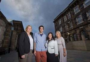 Pictured at the event is Caroline Narlough, Shearlings Holidays, Wigan, Greg Hendry, Brightwater Holidays, Couper, Fyfe, Scotland,  Naomi Waite, Director of Marketing, NITB, and  Elaine Murray, Regional Manager, Tourism Ireland.