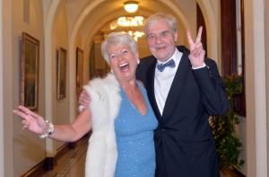 Pamela Ballantine celebrates with Terri Hooley at last night