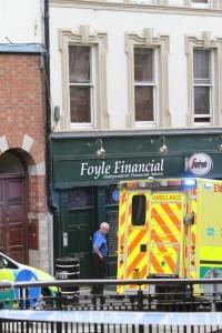 The murder scene in Derry's Shipquay Street on Thursday lunchtime