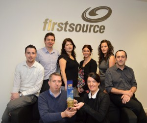 Employees from Firstsource Solutions pick up Business Eye's Employer of the Year at a recent awards gala. The company,