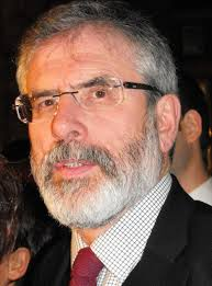 Sinn Fein president Gerry Adams being quizzed over Jean McConville's murder