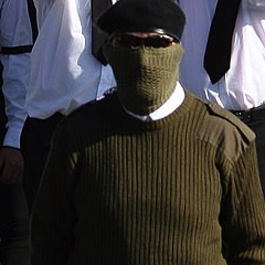 Masked paramilitaries were filmed at funeral of dissident republican Joe O