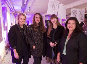 Pictured are Imelda Barnard of Apollo Magazine, Zoe Pilger of the Independent, Jeanette Ward from the Tate and Naomi Waite of NITB.