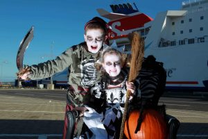 SPOOK-TACULAR: Halloween is coming and Michael and Grace Hewitt from Dundonald are helping leading ferry company Stena Line launch its frighteningly fun Halloween Pirates & Princesses cruises.