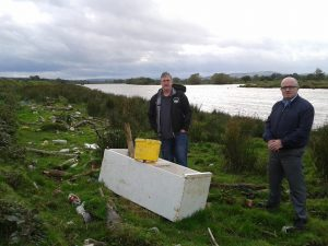 BLOT ON THE LANDSCAPE..SDLP members at dumped rubbish on the banks of the River Foyle