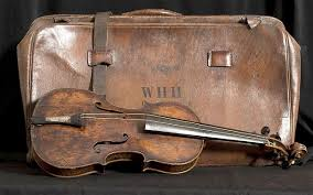 The famous Titanic violin which was sold at auction for £900,000