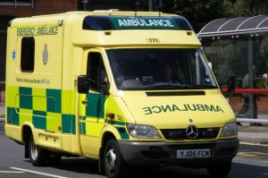 Ambulance crews rush crash injured to hospital for treatment