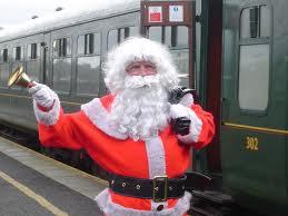 Santa's steam train