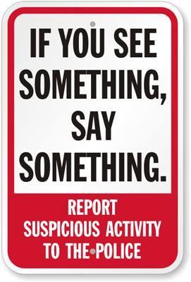 Burglary warning