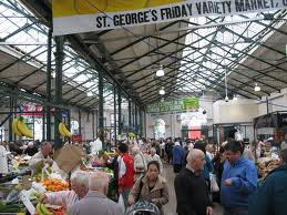 The popular St George's Market in Belfast