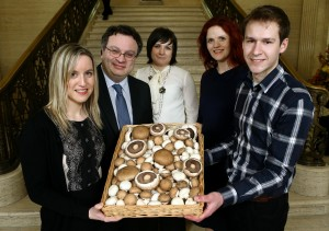 Minister for Employment and Learning, Dr. Stephen Farry, recently welcomed the launch of the companyÕs Graduate Programme 2014 at Stormont. Pictured are l-r Ciara O