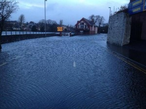 Road closed in Coleraine over flooding