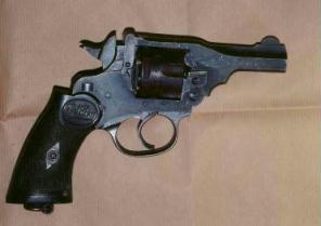 The Webley revolver found by police in Co Tyrone after stopping a car with four dissidents on board