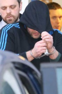 rish Soldier Mark Cassidy leaving Letterkenny courthouse where he was remained til Monday.  (NWNewspix)