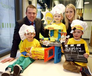 BAKING UP SOME BRIGHT IDEAS... Colin Todd of Brennans Bread and Ruth Cooper of Replay Theatre are joined by Cillian Whittaker, Grace McCracken and James Morrison who will be baking up some bright ideas at the Ideas Oven, a series of fun afternoons organised by Replay Theatre and Brennans Bread with support from Arts & Business NI.