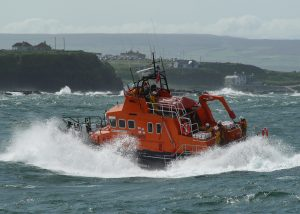 Portrush RNLI's all-weather lifeboat at sea. Pic: Courtesy of RNLI and Colin Watson