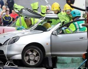 Emergency Services at the scene of the road accident on Derry's Creggan Hill.Photo Lorcan Doherty Photography