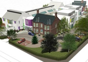 An artist's impression of the new-look NI Hospice in north Belfast