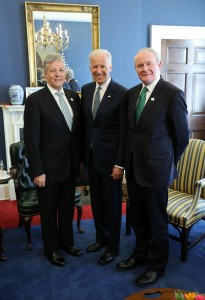 Peter Robinson and Martin McGuinness with US Vice President Joe Biden