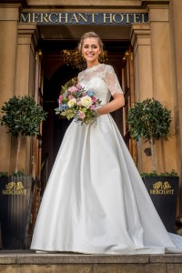 WEDDING SHOWCASE… Style Academy model, Sarah Ennis dons a beautiful wedding gown ahead of The Merchant Hotel's exclusive Wedding Showcase event on Sunday March 9.