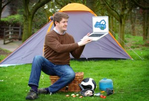 Andrew Norris, founder of GoCampingNI.com launches his new product - a software innovation first that's set to double the camping and caravanning sector in Ireland..