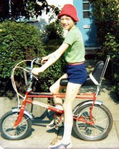U105's Maurice Jay on his chopper bike