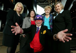 Pictured (l to r) is Anne Fitzgerald from Marathan Tours, Naomi Waite from the Northern Ireland Tourist Board, Maire Sexton and Ann Maher from Active Retirement and Jim Moore from Aunt Sandras at the popular 'Great Days Out Fair' in the iconic visitor attraction, Titanic Belfast