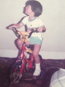 Cool FM's Pete Snodden on his little bike